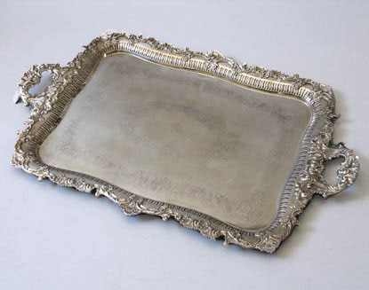 : antique silver plated trays - pezcame.com
